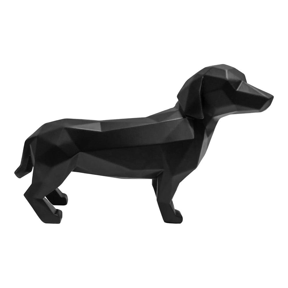 Černá dekorace PT LIVING Origami Dog