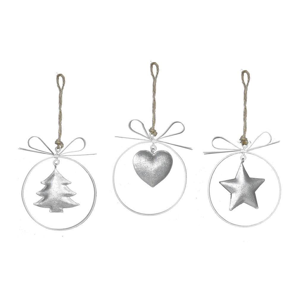Sada 3 kovových závěsných dekorací Ego Dekor Christmas