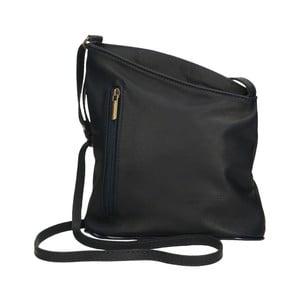 Černá kožená kabelka Chicca Borse Garturo