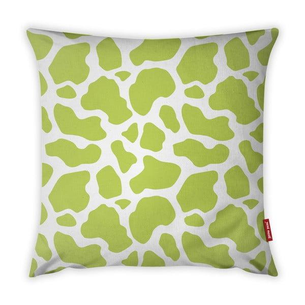 Limetkově zeleno-bílý povlak na polštář Vitaus Animal Print, 43 x 43 cm