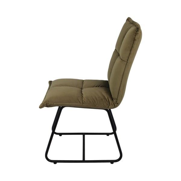 Olivově hnědá jídelní židle se sametovým potahem HSM collection Estelle