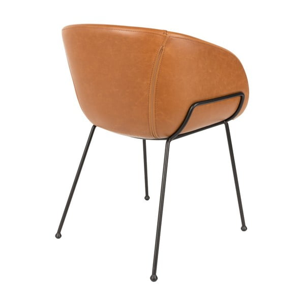 Sada 2 hnědých židlí Zuiver Feston