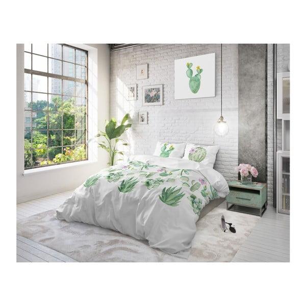 Bavlněné povlečení na dvoulůžko Sleeptime Cactina, 200 x 220 cm