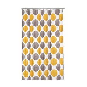 Sprchový závěs Lamara Peva, šedý/žlutý, 180x200 cm