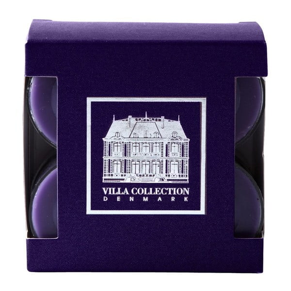 Sada 8 čajových svíček s vůní levandule a limetky Villa Collection