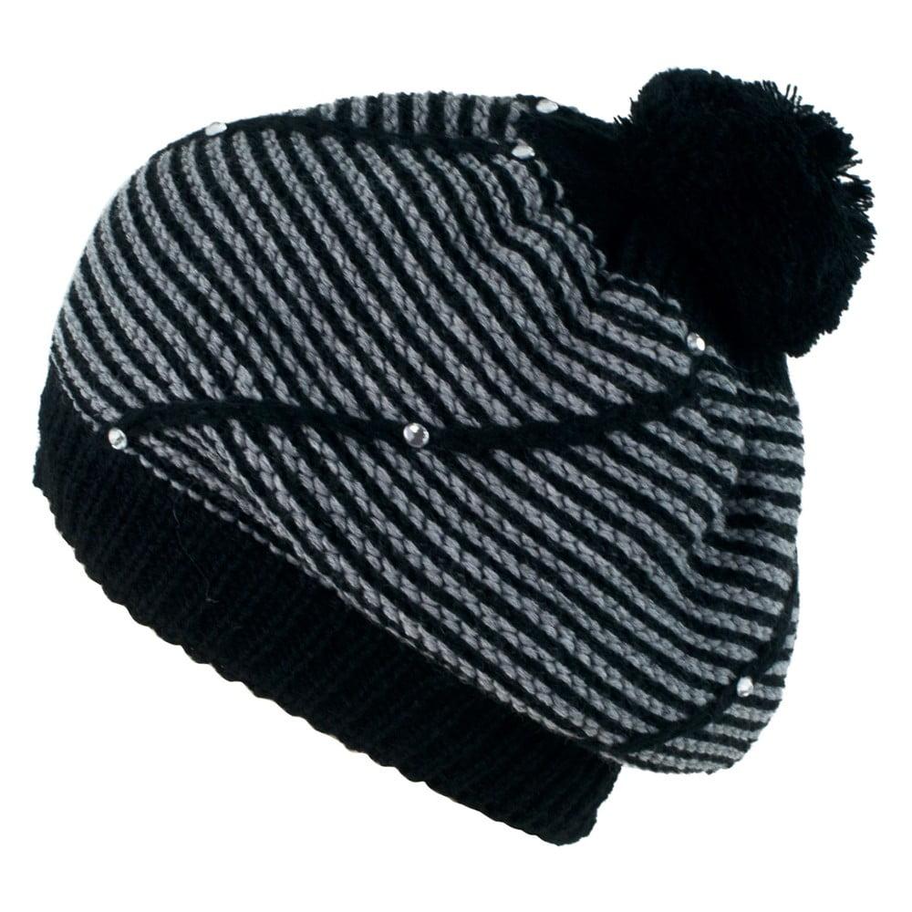 Černo-šedá dámská čepice Art of Polo Basia