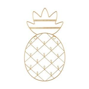 Nástěnný stojan na šperky ve zlaté barvě Sass & Belle Pineapple