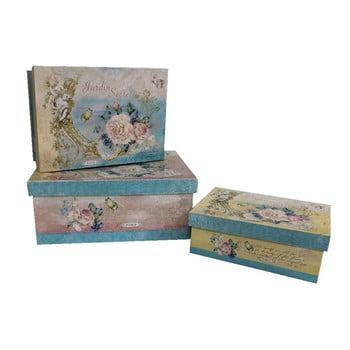 Set 3 cutii Antic Line Blue Vintage de la Antic Line