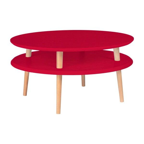 Ufo piros dohányzóasztal, ⌀ 70 cm - Ragaba