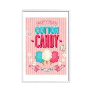 Zarámovaný plakát Cotton Candy, bílý rám