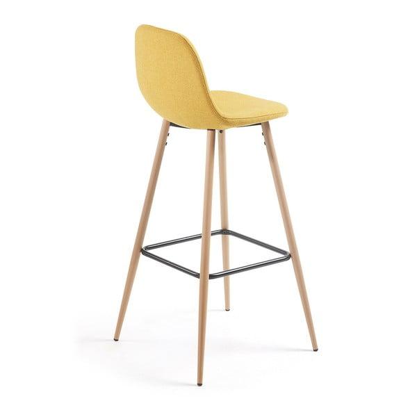 Set 2 scaune bar La Forma Nilson, galben