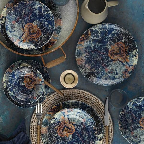 24-częściowy zestaw talerzy porcelanowych Kutahya Turrio
