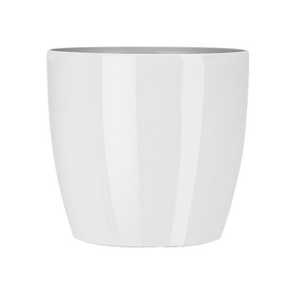 Vysoce odolný květináč Casa Brilliant 18 cm, bílý