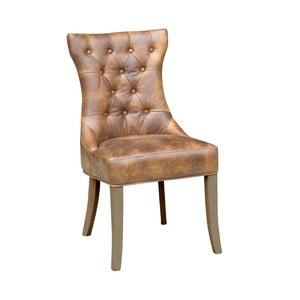Hnědá kožená židle Miloo Home William