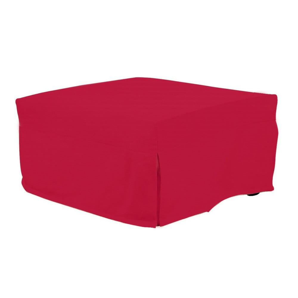 Červený rozkládací puf/lůžko 13Casa Evelin