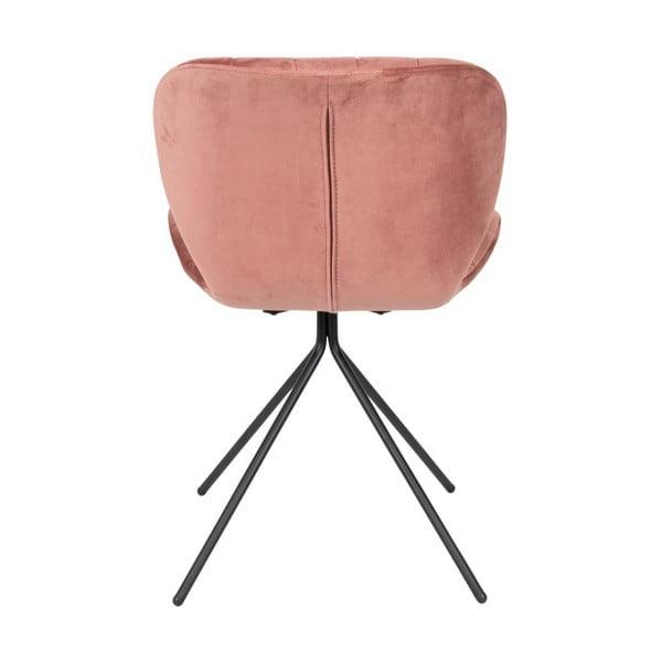 Sada 2 růžových židlí Zuiver OMG Velvet