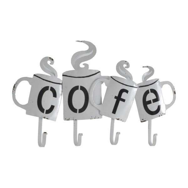 Cofe fehér fém fali fogas - Geese