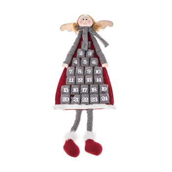 Calendar advent textil suspendat Dakls, lungime 110 cm, formă înger imagine