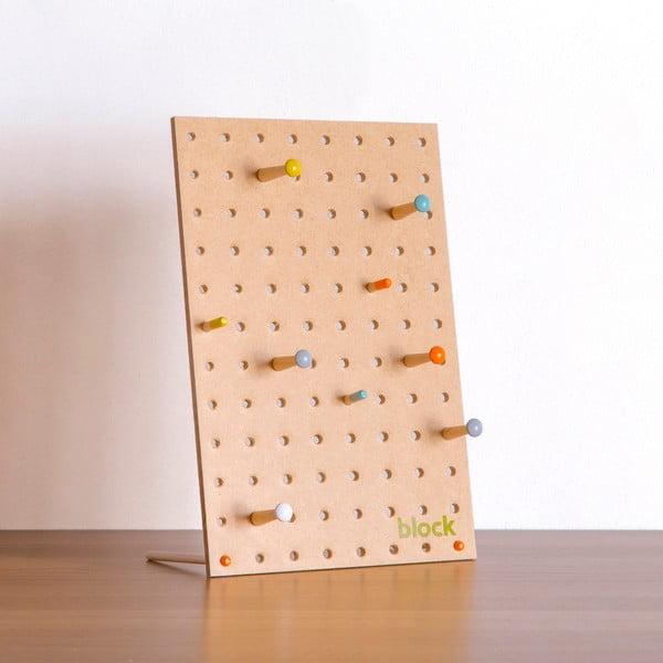 Multifunkční nástěnka Pegboard 30x20 cm, přírodní