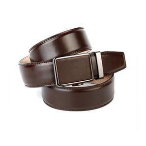 Pánský kožený pásek 37040 Chocolate, 90 cm