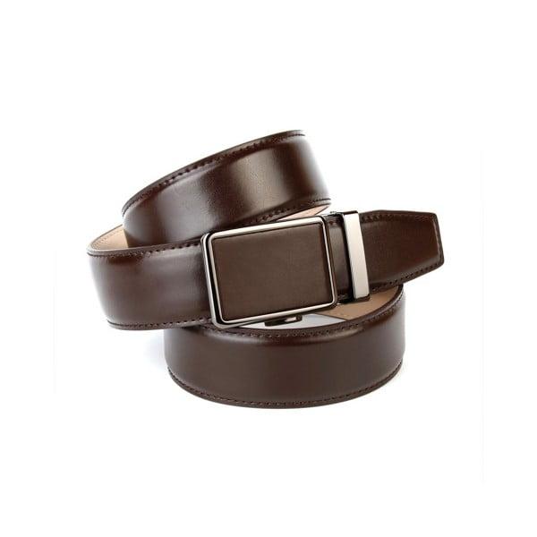 Pánský kožený pásek 37040 Chocolate, 110 cm