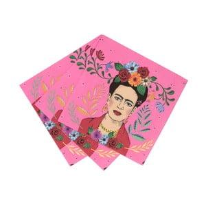 Sada 20 papírových ubrousků Talking tables Boho Frida,25x25cm