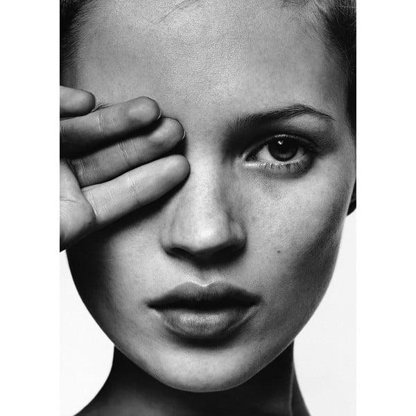Portraits Kate Moss poszter, 30 x 40 cm - Blue-Shaker