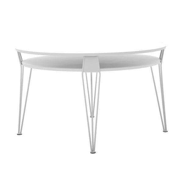 Bílý konferenční stolek s bílými nohami RGE Ester, ⌀88cm