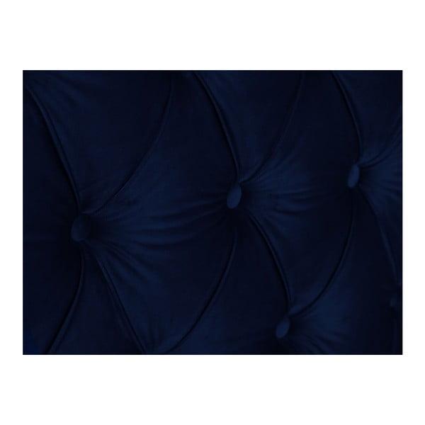 Námořnicky modré čelo postele Mazzini Sofas Anette, 140 x 120 cm