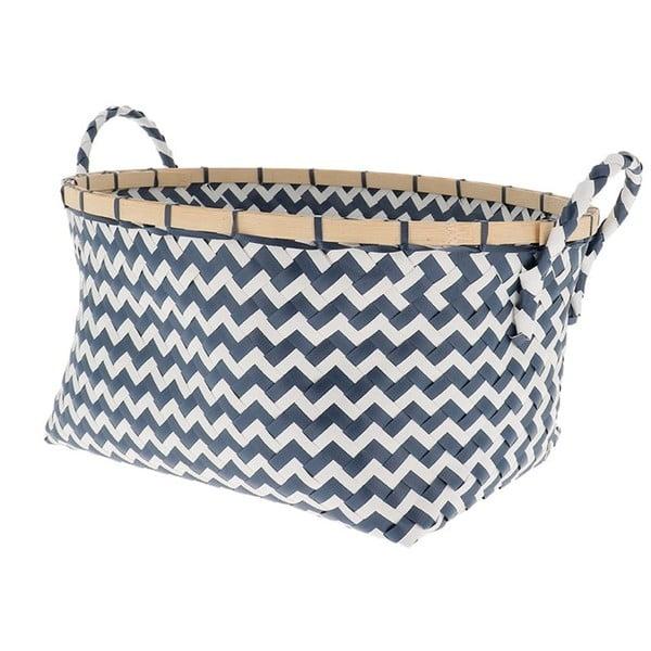 Niebiesko-biały koszyk Compactor Zigzag