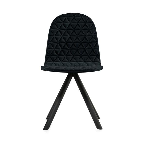 Scaun cu picioare negre Iker Mannequin Triangle, negru
