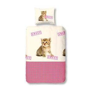 Povlečení Cat Sweet Pink, 140x200 cm