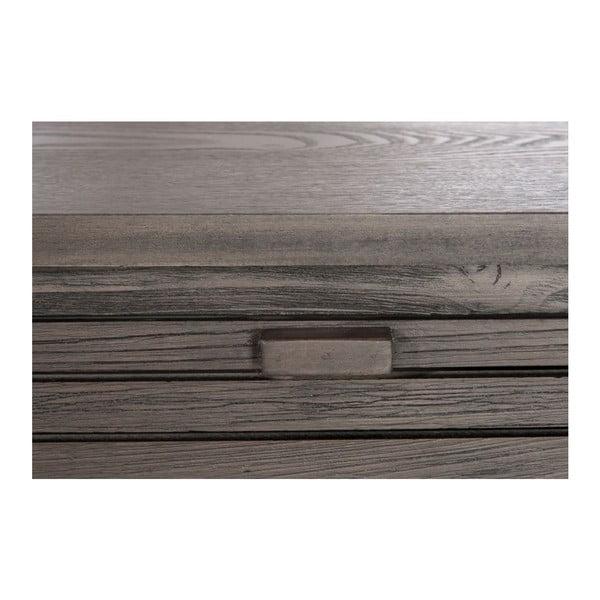Konzolový stolek se zásuvkami Draw Brown, 120x35x92 cm