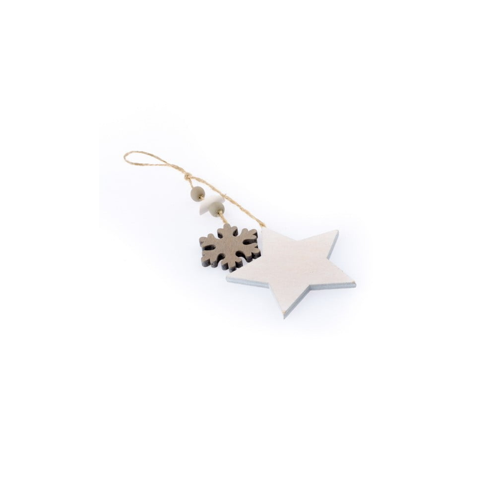 38cd5edeb01 Závěsná vánoční dekorace ve tvaru hvězdy a vločky Dakls Marianne