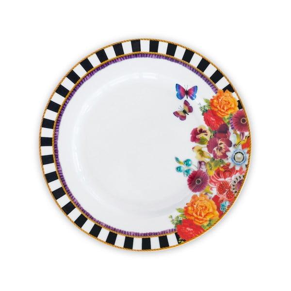 Porcelánový mělký talíř Melli Mello Stripe, 21 cm