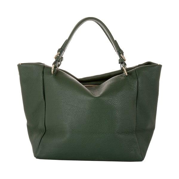 Zelená kabelka z pravé kůže Andrea Cardone Green Star