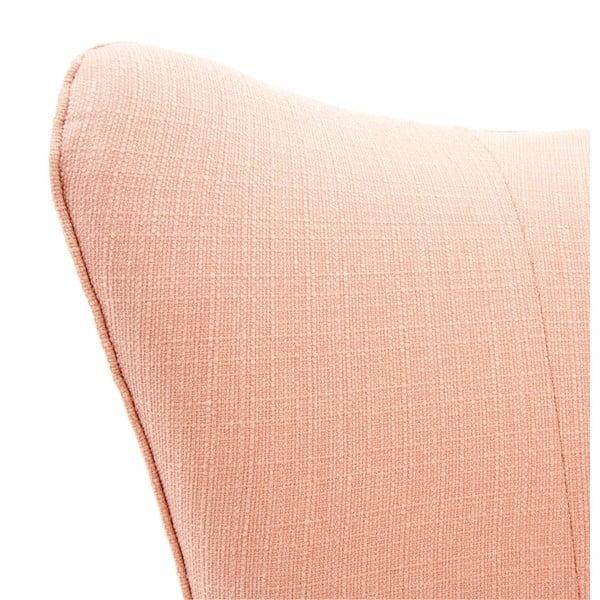 Světle růžové křeslo se světlými nohami Vivonita Sandy