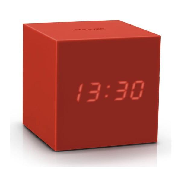 Červený LED budík Gingko Gravitry Cube