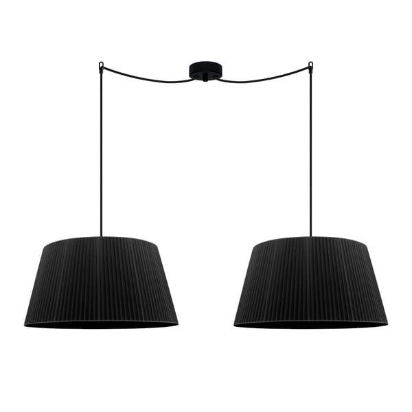 Czarna podwójna lampa wisząca Sotto Luce KAMI Elementary L 2S