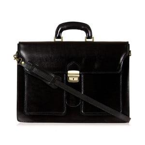 Černá kožená taška přes rameno Italia in Progress Caravaggio
