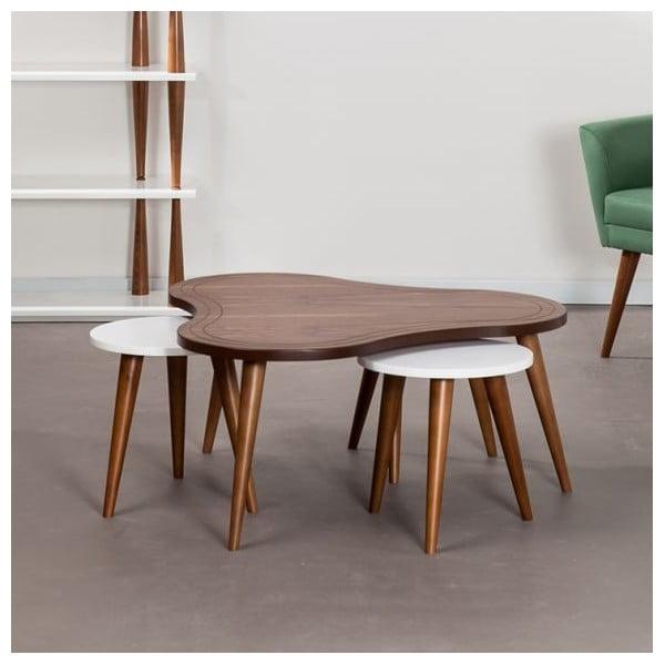 Konferenční stolek Bubble Walnut se židlemi