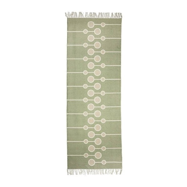 Zelený bavlněný koberec Bloomingville Gredo, 70 x 200 cm