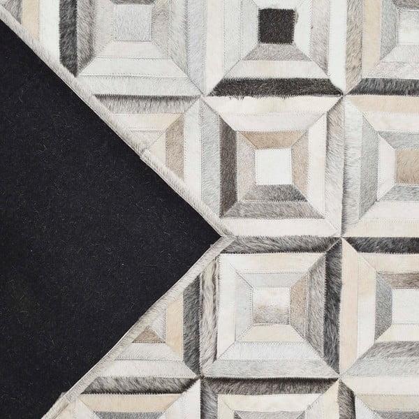 Koberec z pravé kůže Sao Paulo Diamond Grey, 200x300 cm