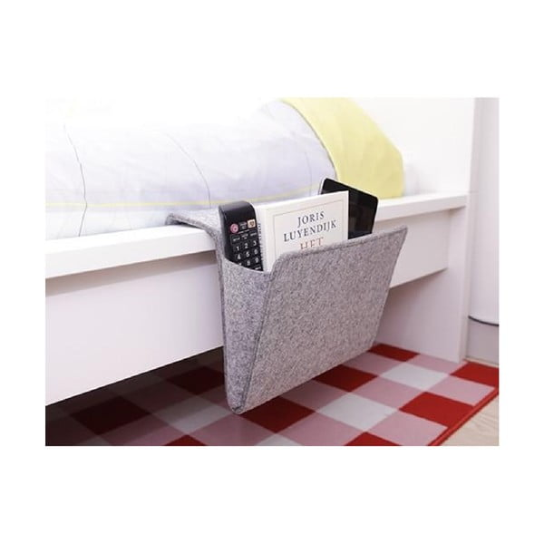 Buzunar textil pentru marginea patului Kikkerland Bedside, lățime 28,2 cm