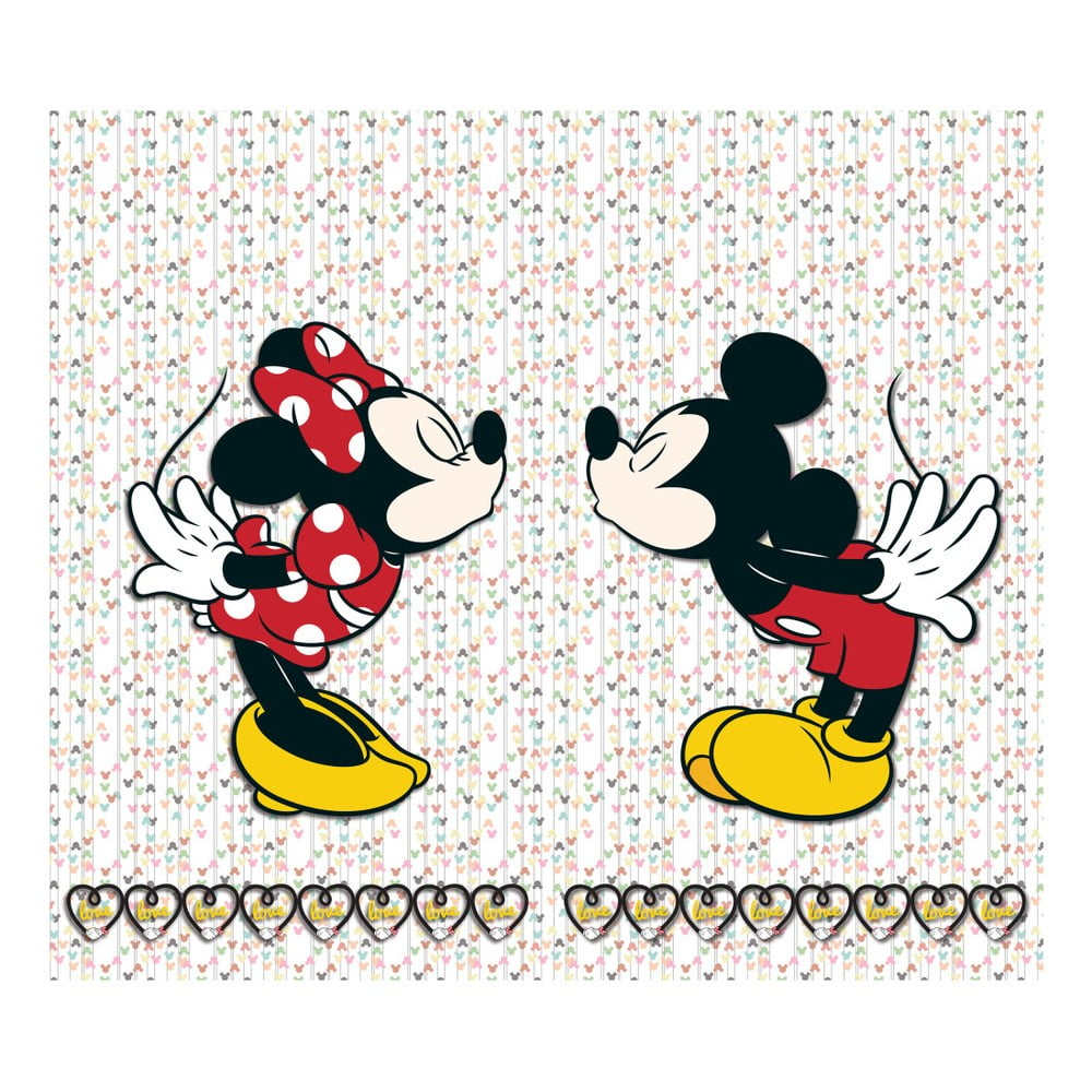 Foto závěs AG Design Mickey & Minnie, 160 x 180 cm