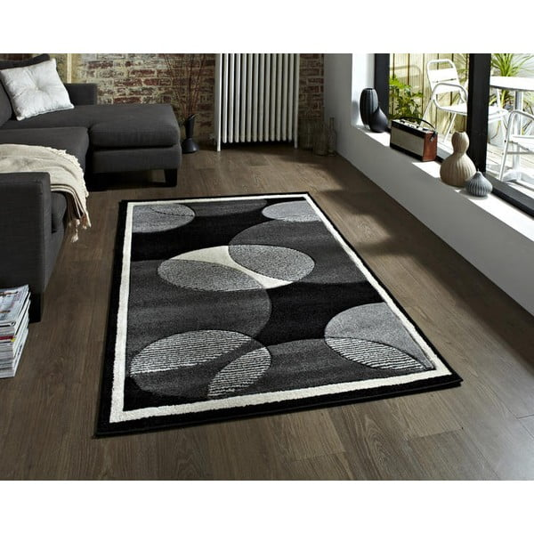 Šedý koberec Think Rugs Art Twist Grey, 160 x 220 cm