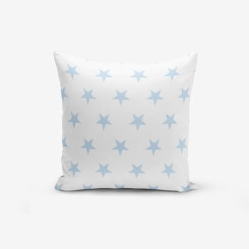 Față de pernă cu amestec din bumbac Minimalist Cushion Covers Light Blue Star, 45 x 45 cm de la Minimalist Cushion Covers
