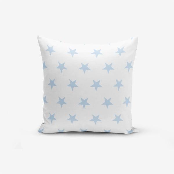 Față de pernă cu amestec din bumbac Minimalist Cushion Covers Light Blue Star, 45 x 45 cm