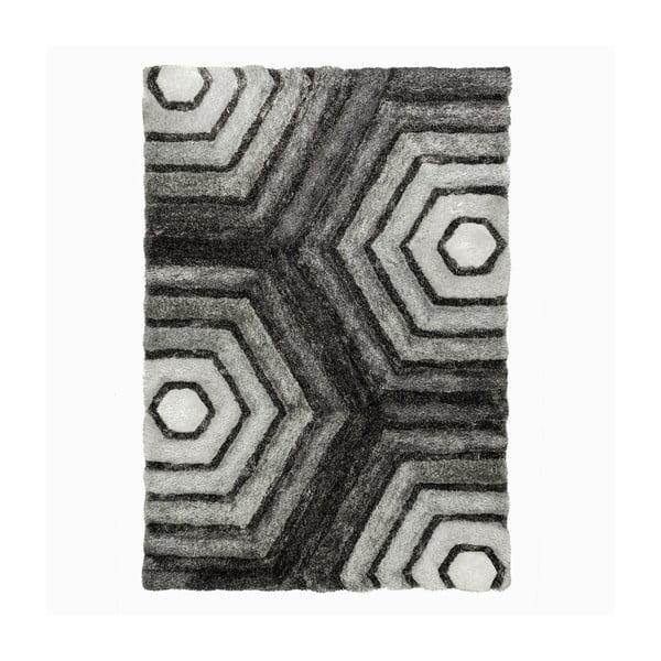 Covor Flair Rugs Hexagon Grey, 120 x 170 cm, gri