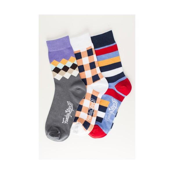 Tři páry ponožek Funky Steps Halo, unisex velikost